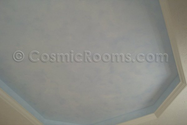 Clouds and Stars painted in tray ceiling