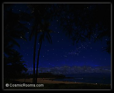 starry night sky to romance under